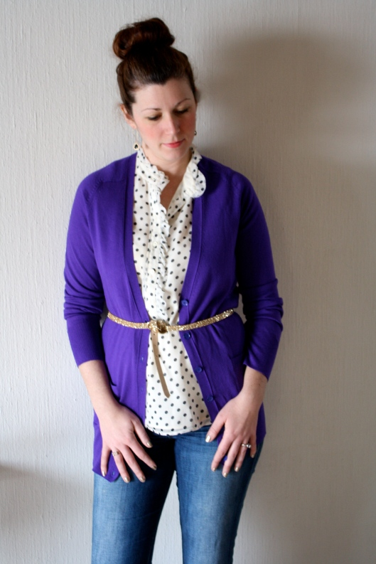 Purple Cardigan 1
