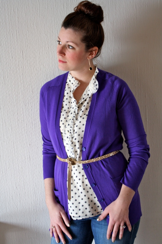 Purple Cardigan 2