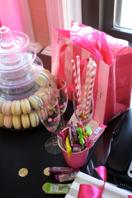 macarons and presents