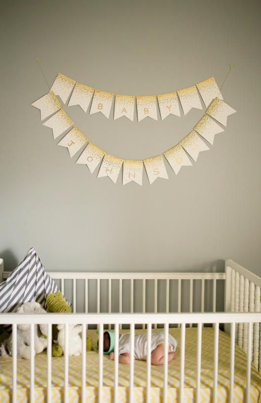 columbus ohio newborn lifestyle baby in crib name sign full
